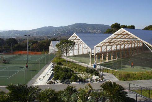 نصب داربست به صورت سوله بابت انبار – باشگاه تنیس